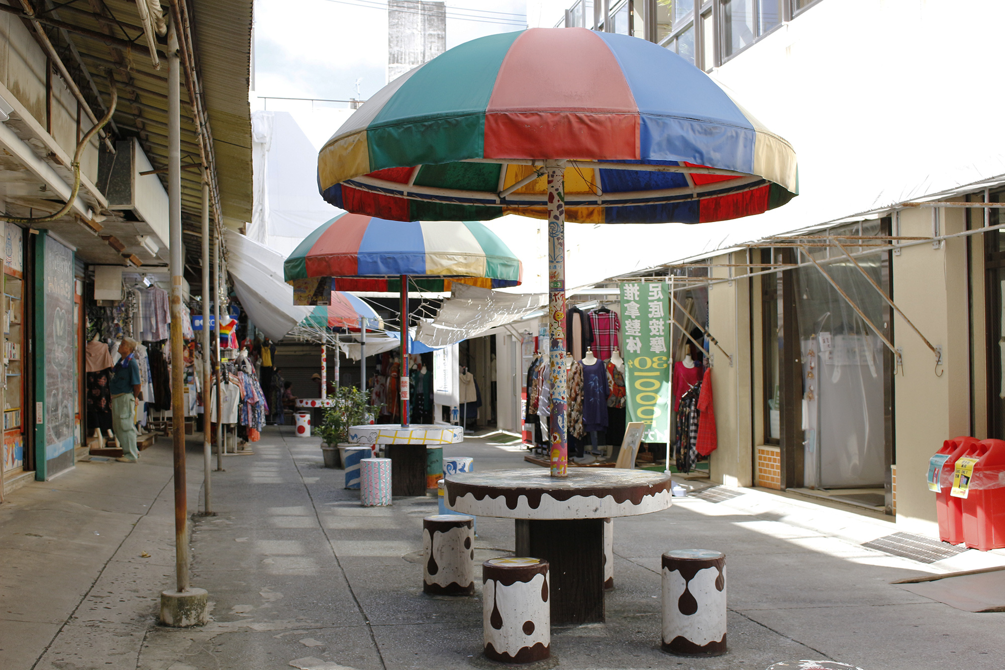 まちぐゎーの憩いの場「パラソル通り」をまちまーいしてみた。|発見!まちまーい